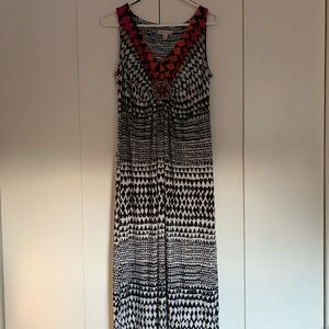 Colorful Patterned Maxi Dress